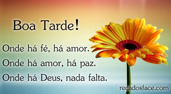 Boa Tarde Amor: LINDA TARDE